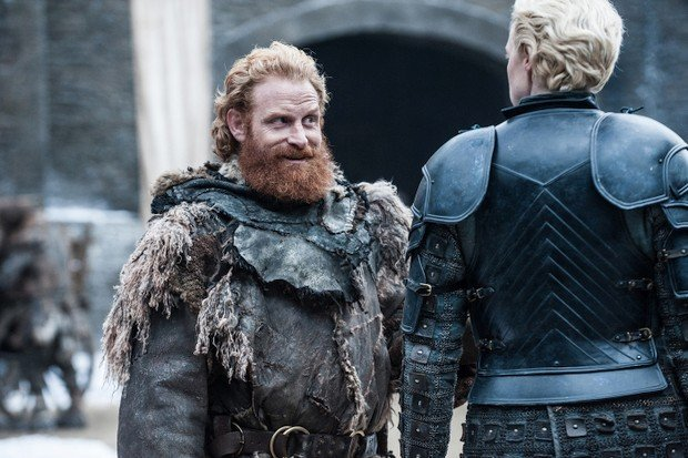 Tormund (Kristofer Hivju) und Brienne (Gwendoline Christie) in Staffel sieben von Game of Thrones